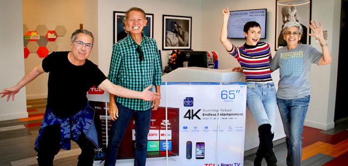 Alyson Stoner Generously Regifts 65-inch Present from Ellen DeGeneres to the Center